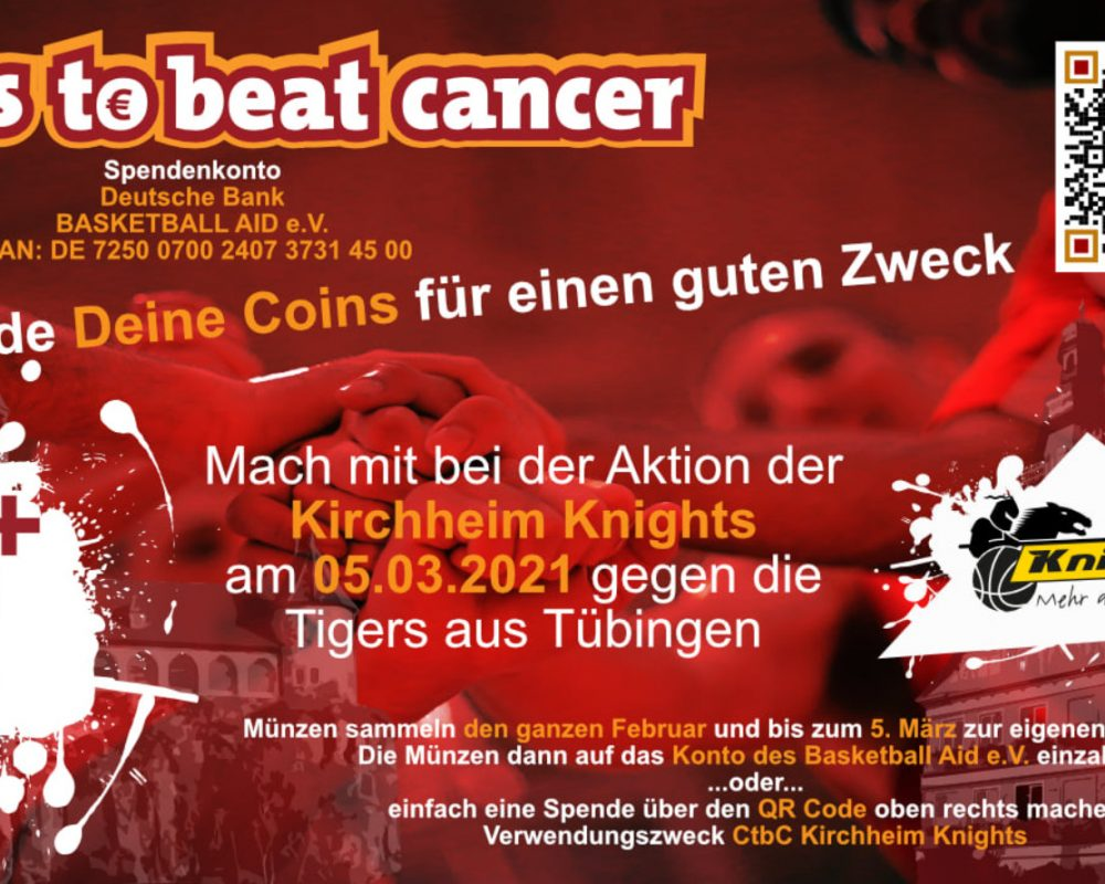 "Charity-Aktion Coins-to-beat-Cancer (CtbC) ""virtuell"" zugunsten krebskranker Kinder"